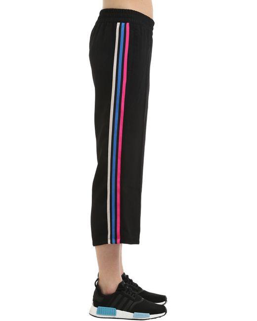 Adidas Originals Black Wide Leg Capri Track Pants