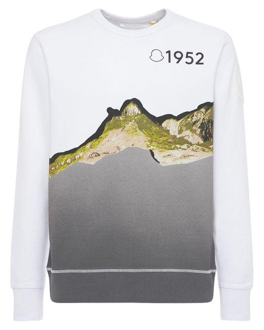 メンズ Moncler Genius 1952 コットンスウェットシャツ White