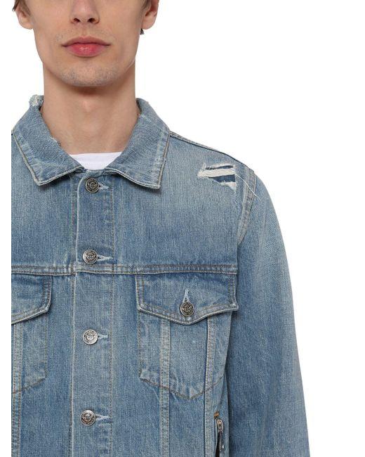 メンズ Balmain コットンデニムジャケット Blue