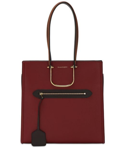 Alexander McQueen The Tall Story レザートートバッグ Red
