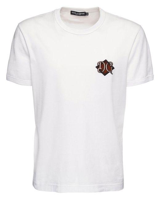 メンズ Dolce & Gabbana Dg コットンtシャツ White