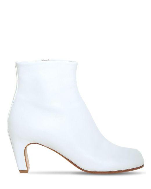 "Кожаные Ботильоны ""tabi"" 60мм Maison Margiela, цвет: White"