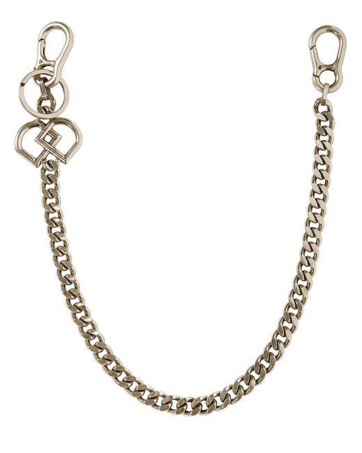 DSquared² - Metallic Dd Logo Metal Pocket Chain for Men - Lyst