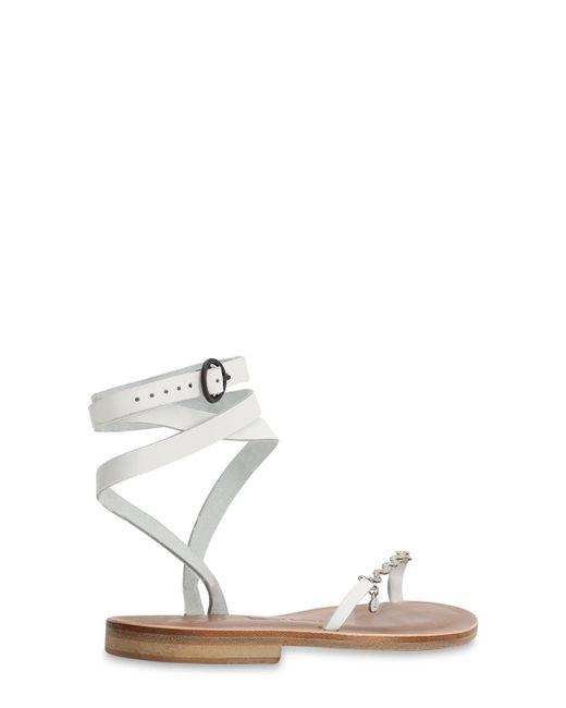 Sandalias De Piel 10mm Alvaro de color White