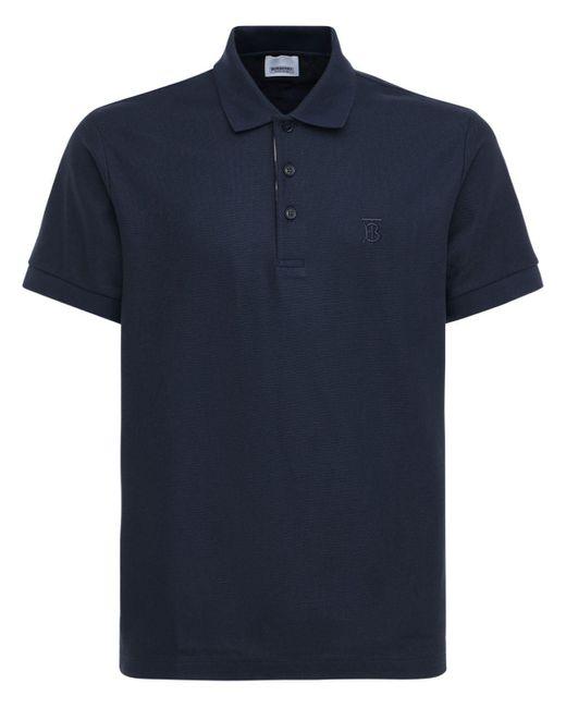 Burberry Polohemd Aus Baumwollpiqué Mit Logo in Blue für Herren
