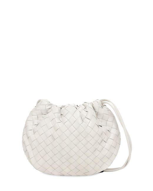 Кожаная Сумка Intreccio Bottega Veneta, цвет: White