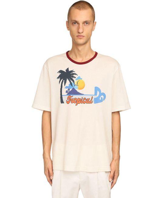 メンズ Dolce & Gabbana コットンジャージーtシャツ White