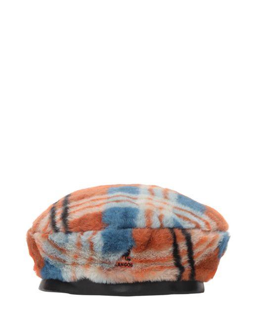 Kangol Fantasy エコファーベレー帽 Orange