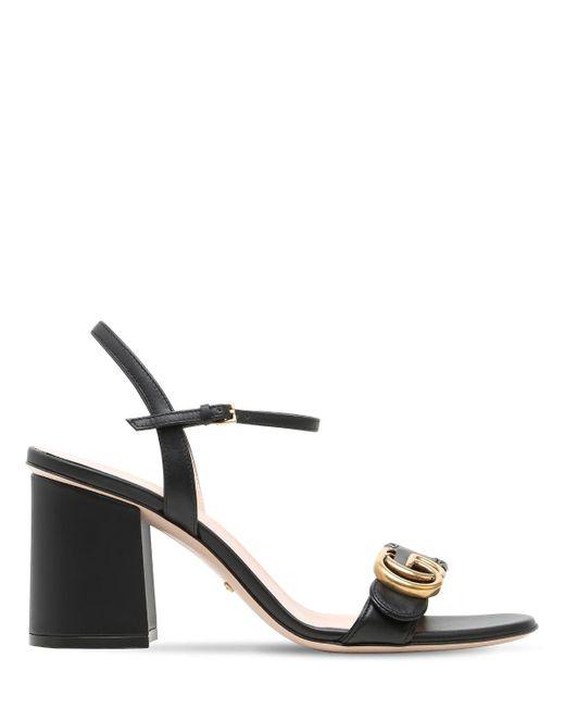 Босоножки На Среднем Каблуке Gucci, цвет: Black