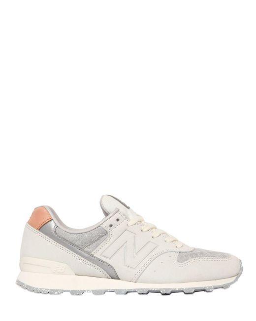 New Balance   Gray 996 Limit.ed Nubuck & Mesh Sneakers   Lyst