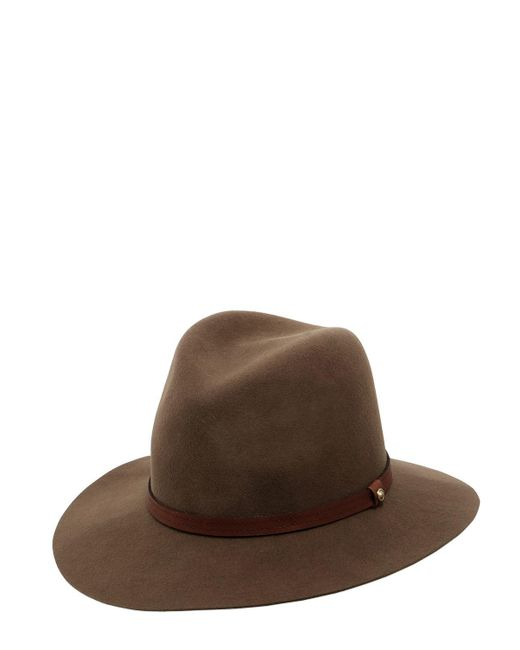 Rag & Bone - Brown Floppy Brim Wool Felt Fedora Hat - Lyst