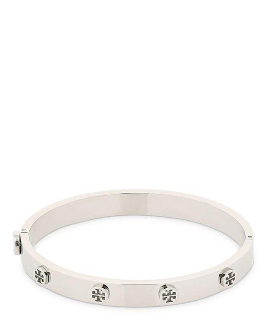 Tory Burch Metallic Logo Stud Hinge Bracelet