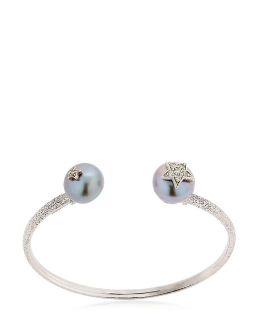 Carolina Bucci | Metallic Pearl White Gold Bangle Bracelet | Lyst