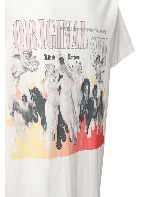 メンズ Lifted Anchors コットンジャージーtシャツ White