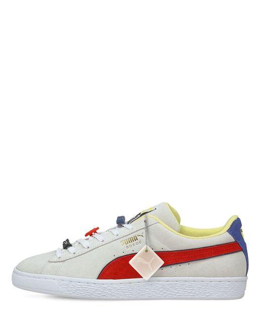 Кроссовки Из Замши Decor8 PUMA для него, цвет: White