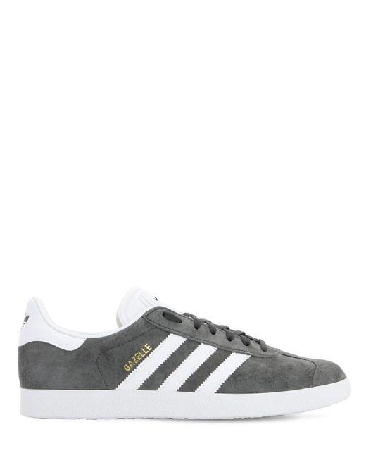 メンズ Adidas Originals Gazelle スエードスニーカー Gray