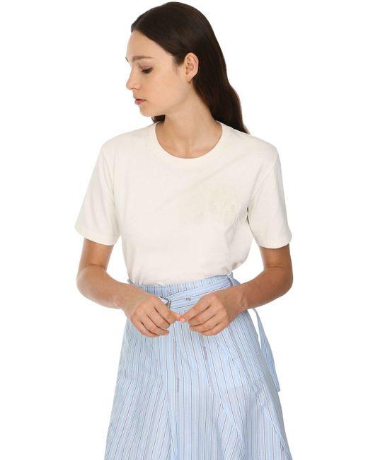 J.W. Anderson コットンジャージーtシャツ White