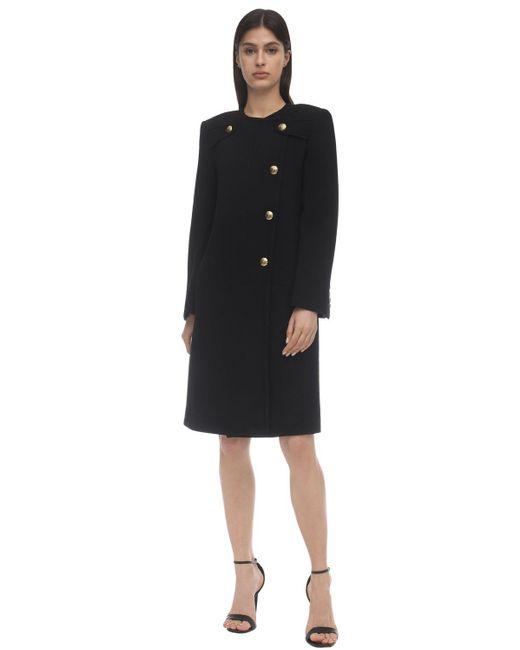 Пальто Из Крепа 4g Givenchy, цвет: Black