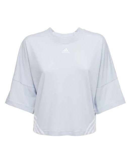 Adidas Originals クロップドtシャツ Blue