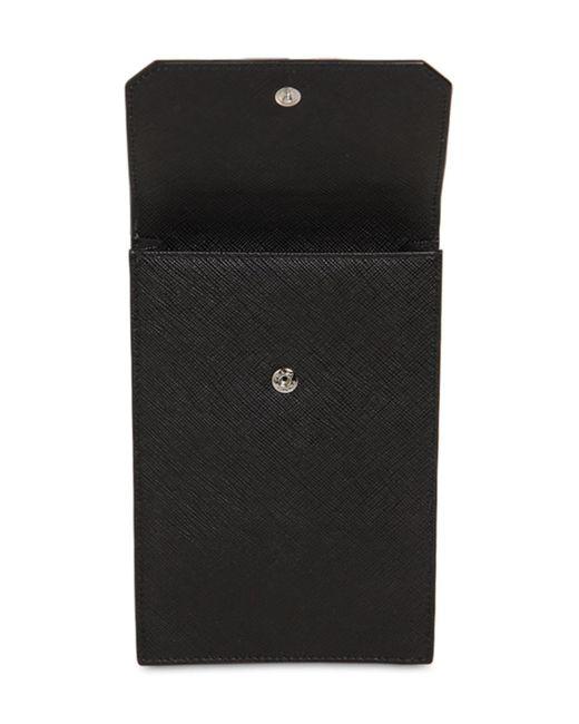 Prada Tasche Aus Saffianoleder in Black für Herren