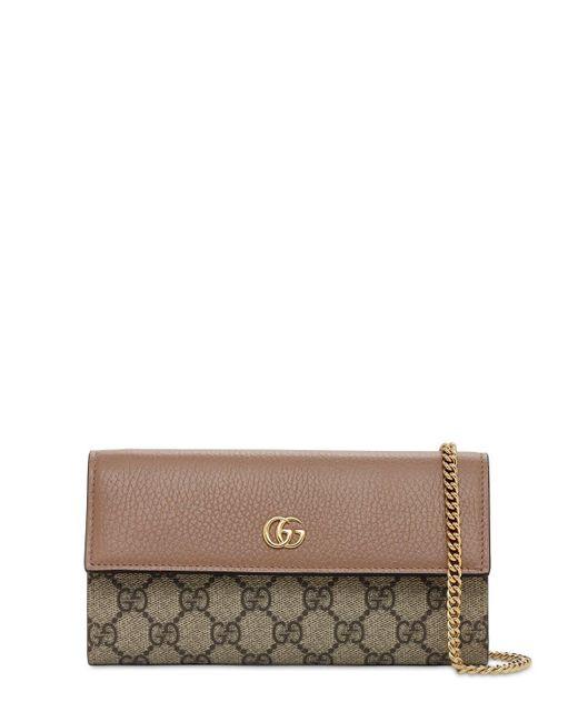 Кожаная Сумка Petite Marmont Gucci, цвет: Brown