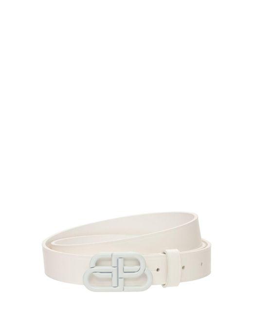 Кожаный Ремень 3cm Balenciaga, цвет: White