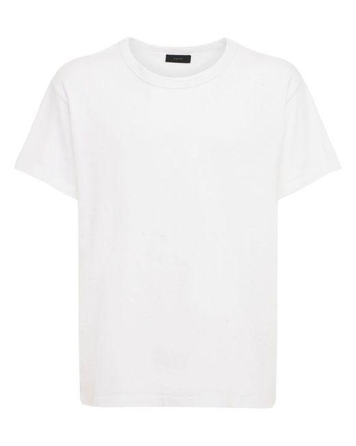 Футболка Из Хлопкового Джерси Amiri для него, цвет: White