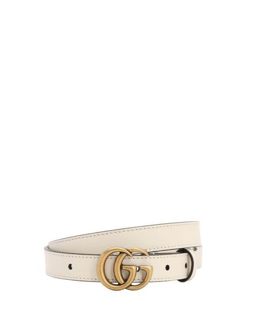 """Кожаный Ремень """"gg Marmont"""" 20мм Gucci, цвет: Multicolor"""