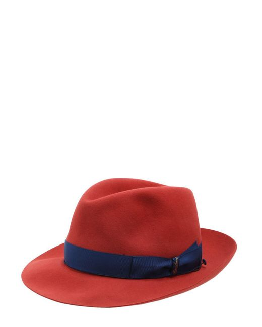 Borsalino - Red 50gr Lightweight Fur Felt Hat for Men - Lyst