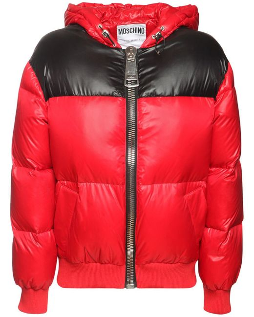 Куртка Из Нейлона Moschino, цвет: Red