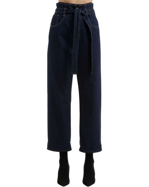 3x1 - Blue Kelly Paper Bag Denim Jeans - Lyst