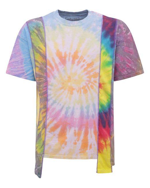 メンズ Needles 5 Cuts タイダイコットンジャージーtシャツ Multicolor