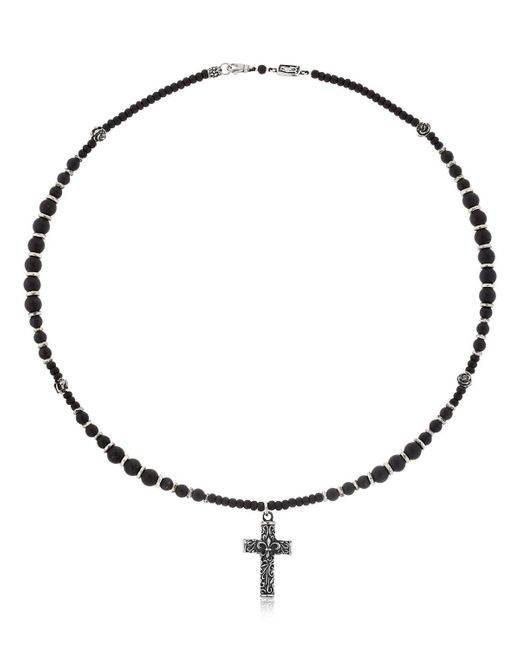 Cantini Mc Firenze - Black Cross Beaded Necklace - Lyst