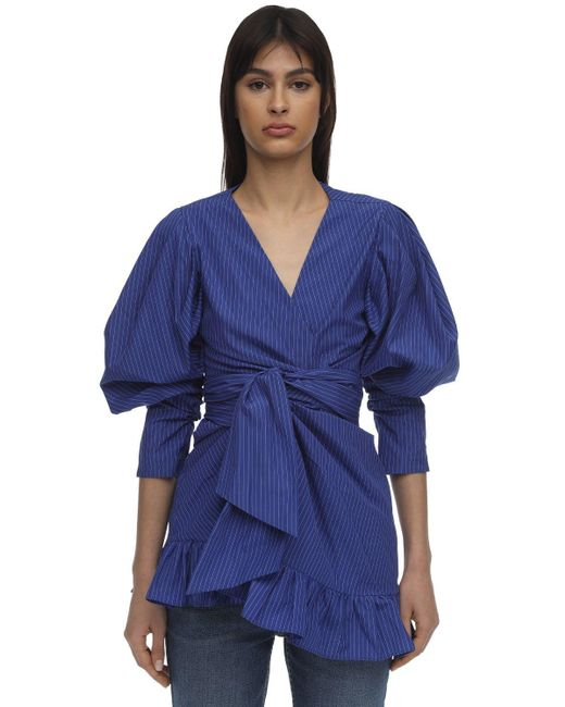 Lug Von Siga フリルラップドレス Blue