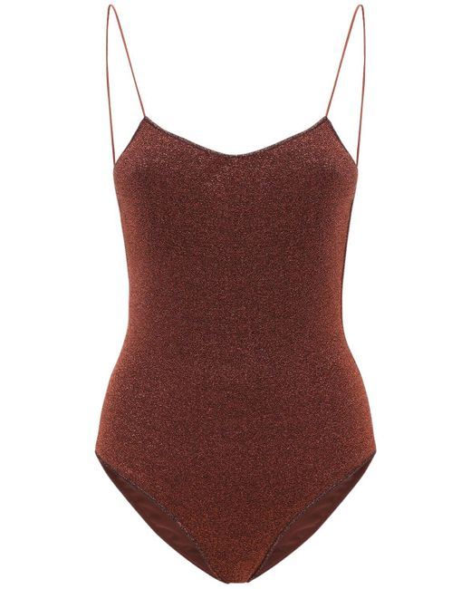 Oseree Lumière Maillot ルレックスワンピース水着 Brown