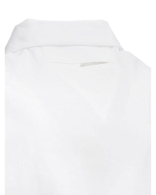 Рубашка Из Поплин Bottega Veneta для него, цвет: White