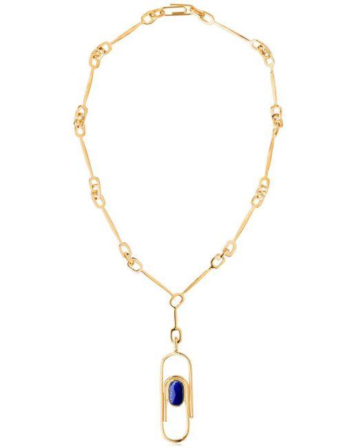 Aurelie Bidermann   Metallic Angelica Lapis Lazuli Necklace   Lyst