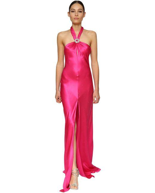 Azzaro シルクサテンドレス Pink