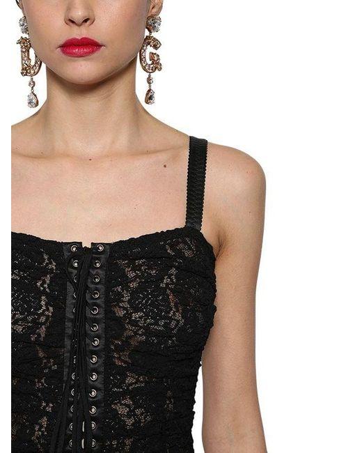 Dolce & Gabbana レースミニドレス Black