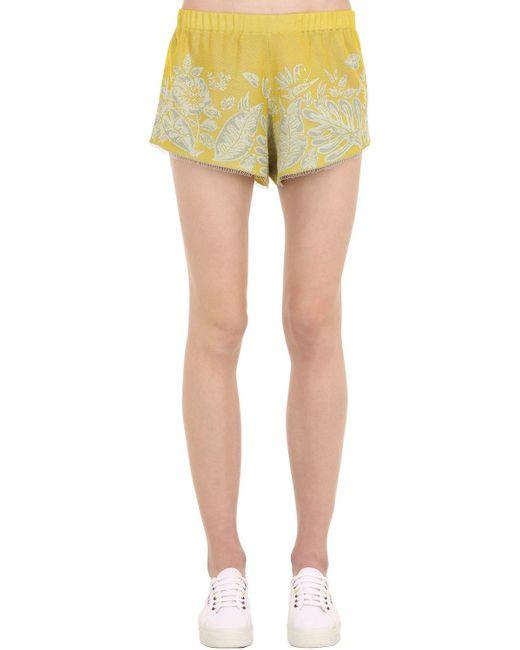 Alanui Hawaiian Dream ジャカードショートパンツ Yellow