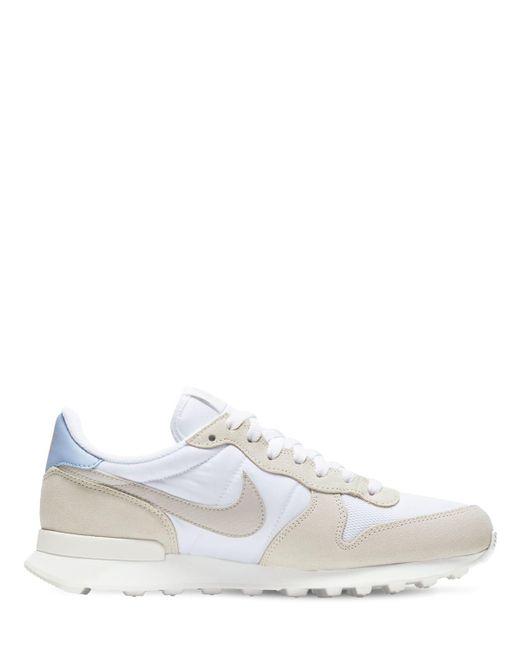 Nike White Internationalist Sneakers