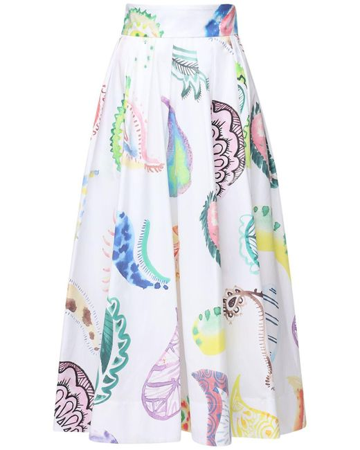 Rosie Assoulin ポプリンスカート White