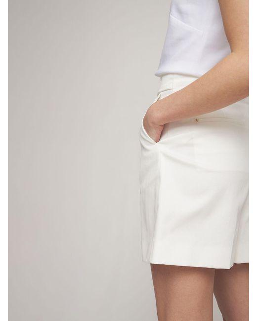 "Short En Gabardine De Coton ""placido"" Sportmax en coloris White"