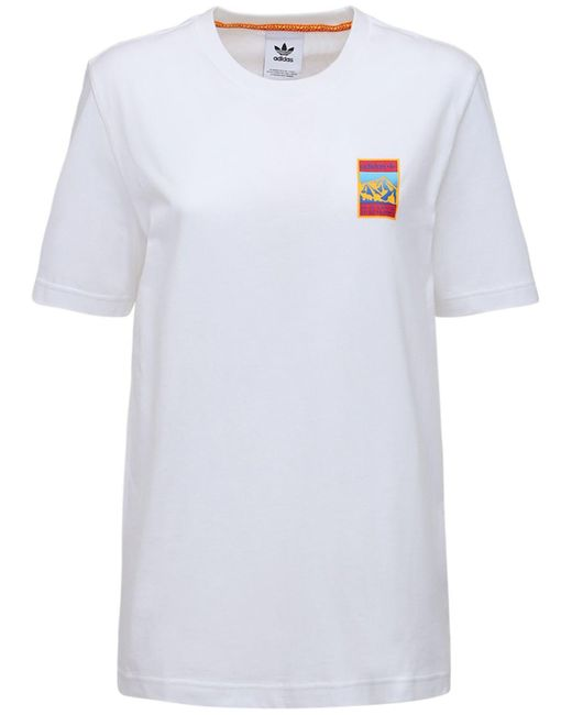 Adidas Originals Adiplore グラフィックtシャツ White