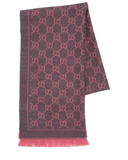Gucci 【公式】 (グッチ)GGウール スカーフローズピンク ウールピンク Pink
