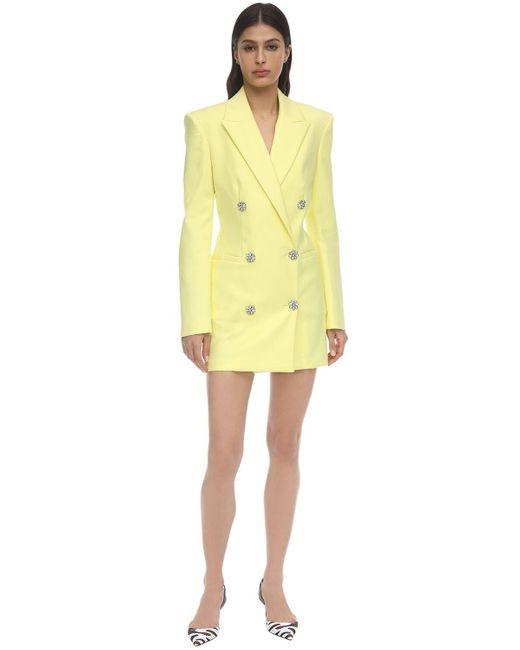 The Attico ストレッチコットンブレザーミニドレス Yellow