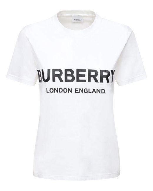 Burberry オーバーサイズコットンジャージーtシャツ White