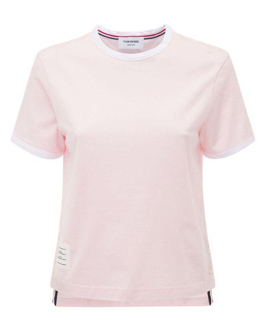 Thom Browne コットンジャージーtシャツ Pink