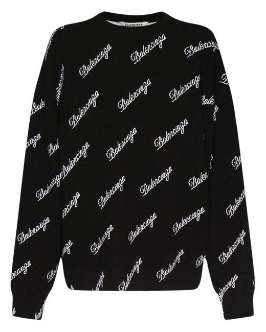 Balenciaga ウールニットセーター Black