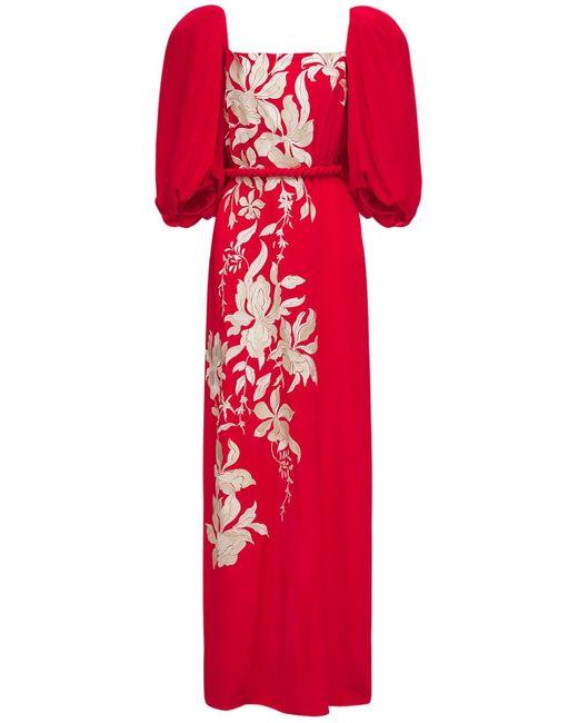 Johanna Ortiz シルククレープドレス Red